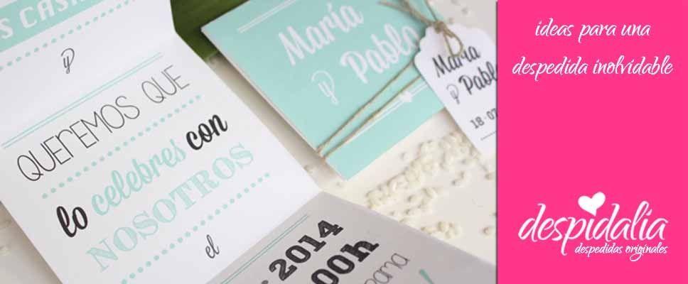 Invitaciones de boda molonas para bodas con estilo