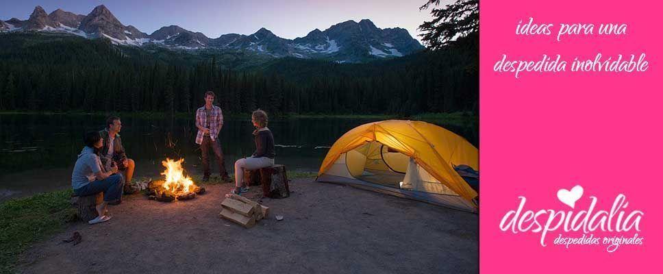 Montar una despedida en un camping