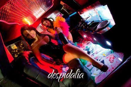 Show de stripper dentro de limusina