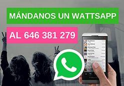 ENVÍANOS UN WHATSAPP AL 646 381 279