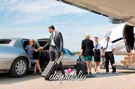 limusina aeropuerto 445x296 - Recogida en el Aeropuerto de Barcelona en Limusina o Party Bus