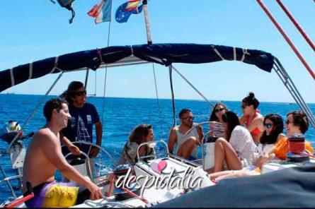 cena velero puesta sol2 1 445x296 - Puesta de sol con Cena en Velero