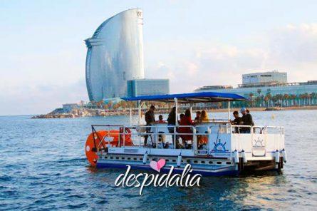 beer sangria boat bike1 445x296 - Barco a Pedales con Cerveza y Sangria